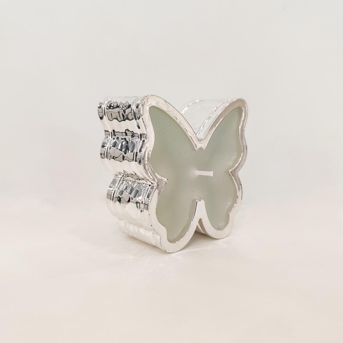 Свічка у срібній основі ``Метелик``