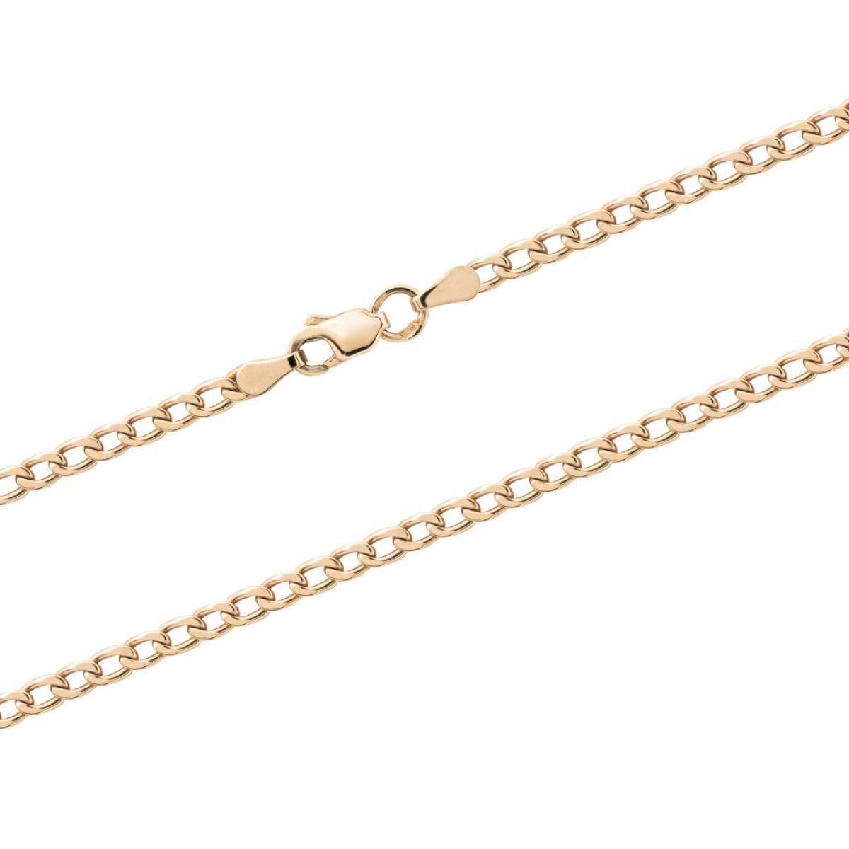 Золотий ланцюжок з панцирним плетінням (розмір 55)
