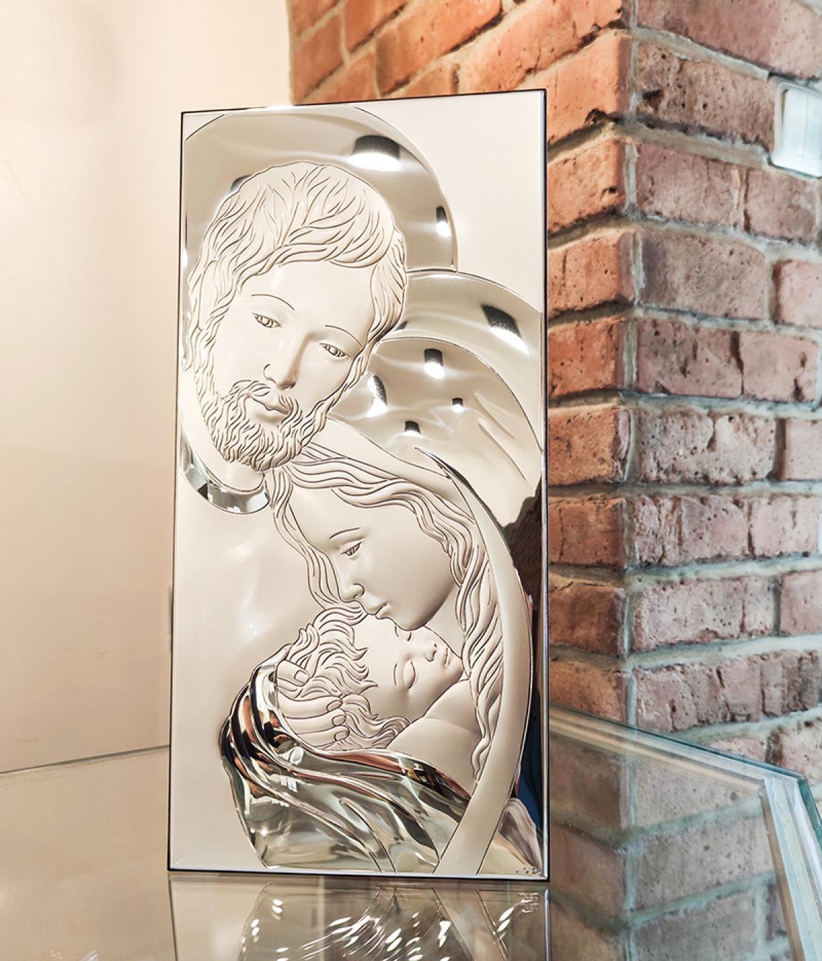 Ікона срібна ``Свята Сім`я`` (25x50см) 81320.7L