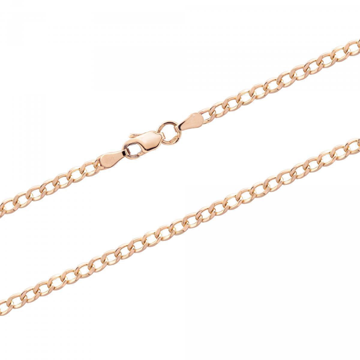 Ланцюжок з червоного золота плетіння панцир HCG1D-80X K (45)