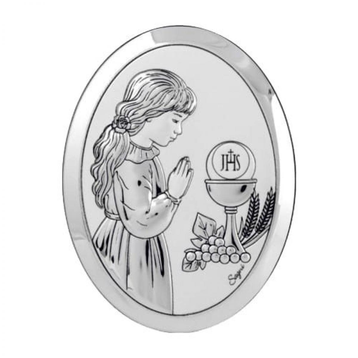 Срібний образ ``Перше Причастя`` для дівчинки