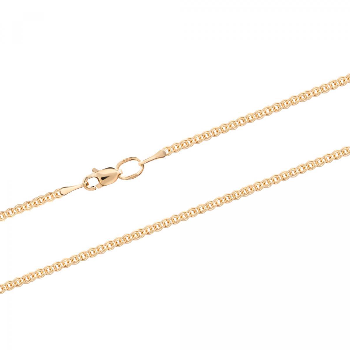 Ланцюжок з червоного золота плетіння нонна NON-30X4(W) (45)