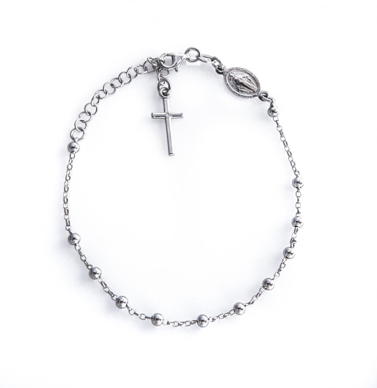 Срібний браслет-вервиця B1401523F2119
