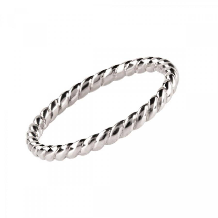 Перстень монобрендовий ``Twist infinity`` з білого золота 200-0159 (17)