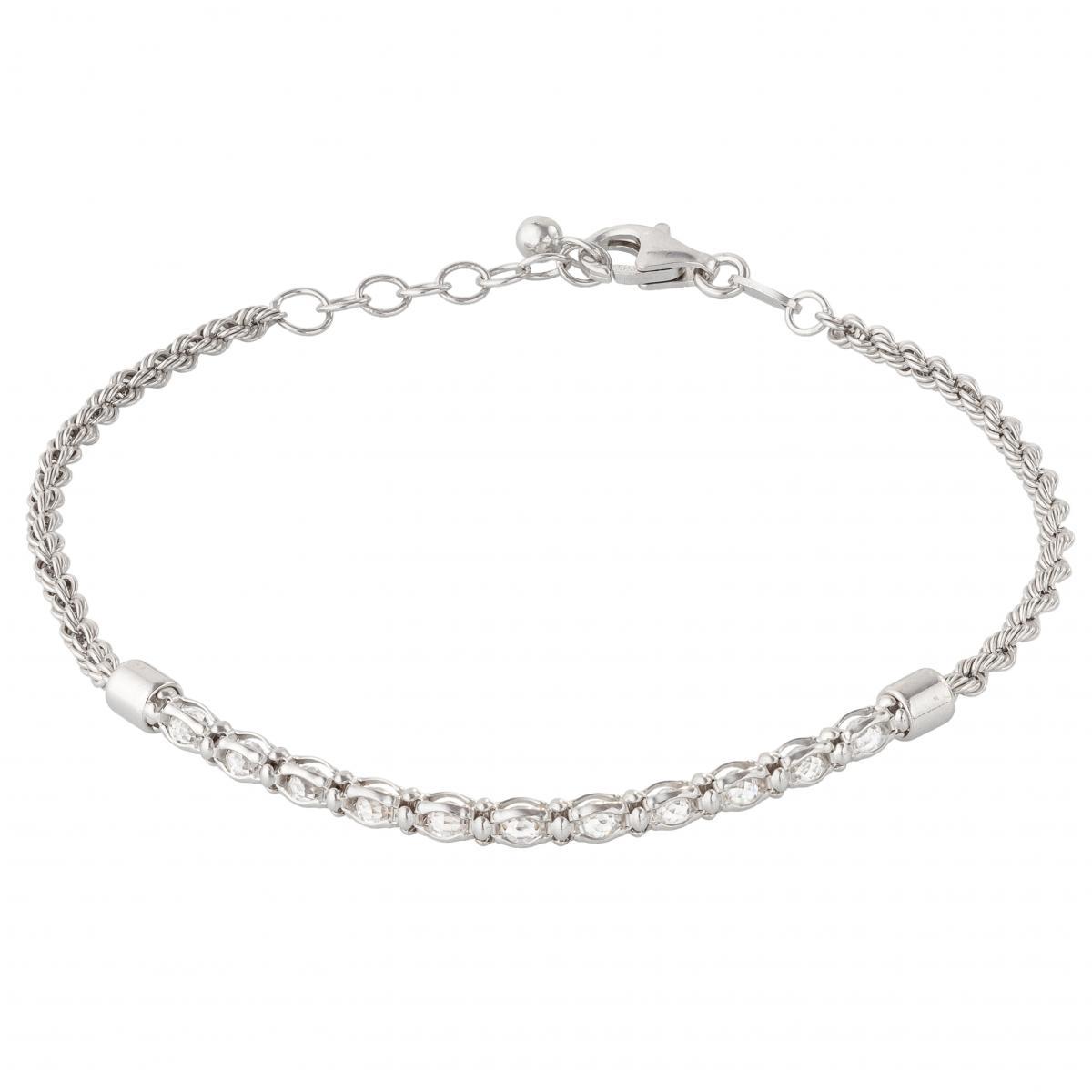 Браслет срібний з цирконієм жіночий ``Barocco`` CRDLSBR MLSA 040y