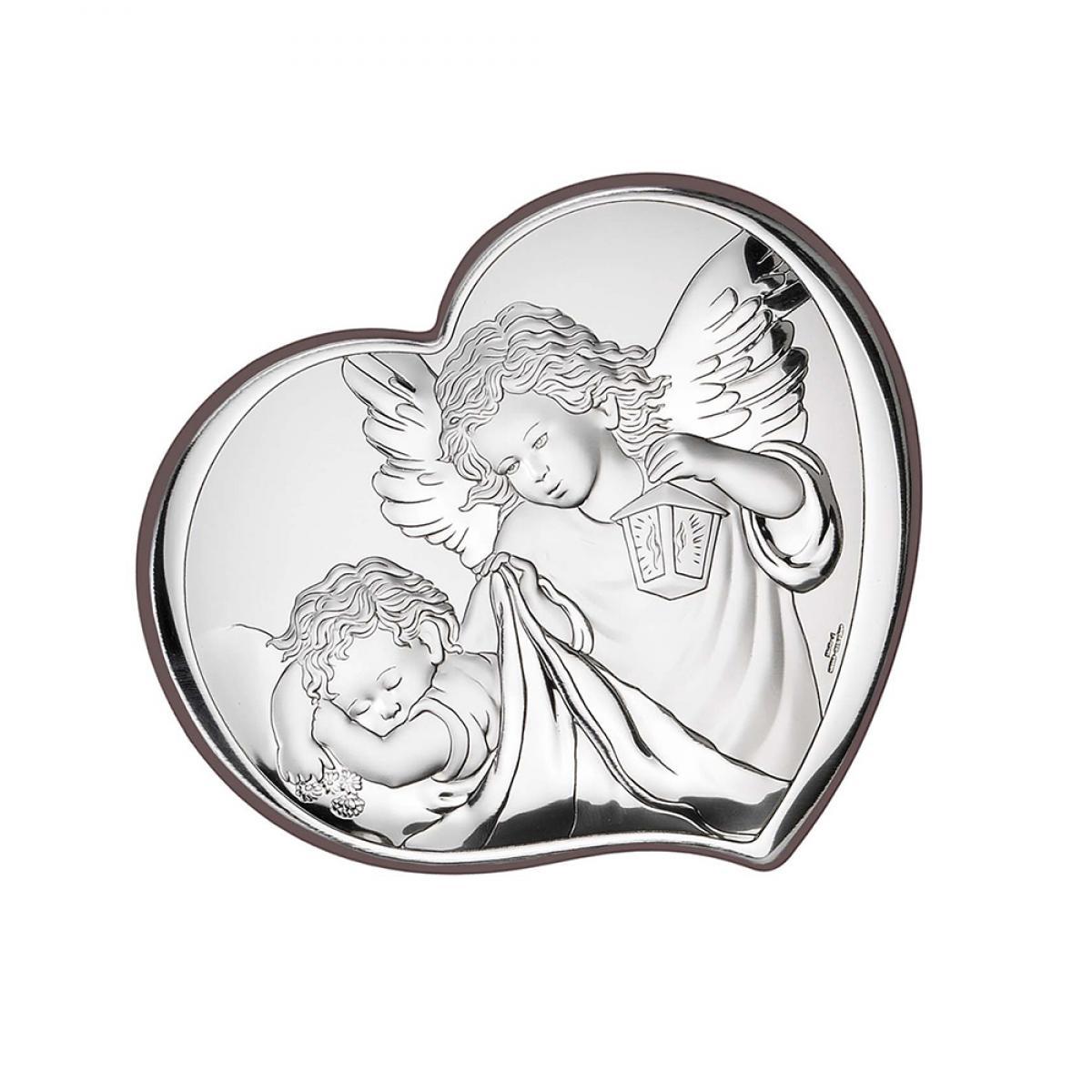 Ікона срібна Ангел-охоронець 6х7см 81258 1L