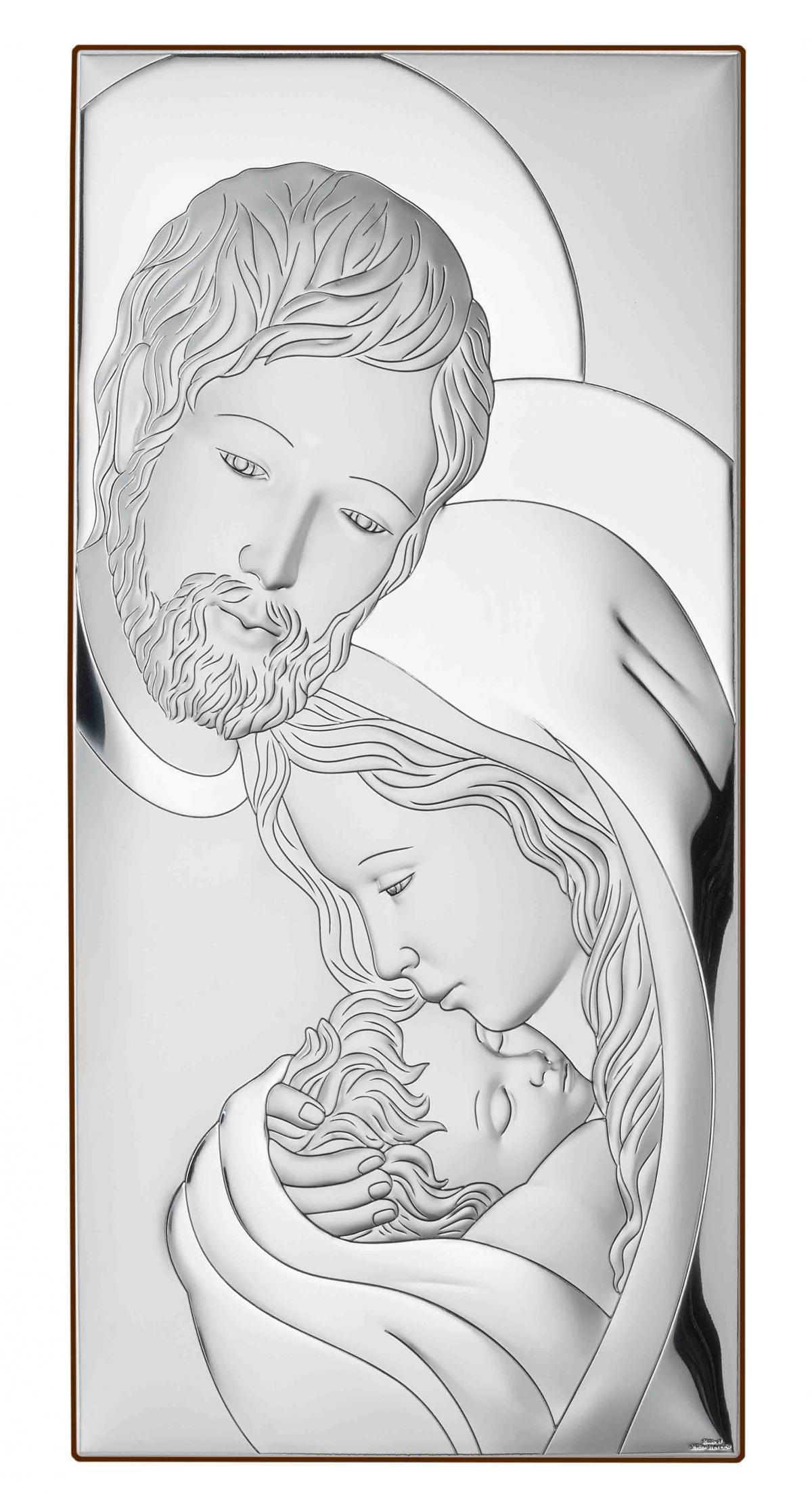 Ікона срібна Свята Родина 19х39см 81320.6XL