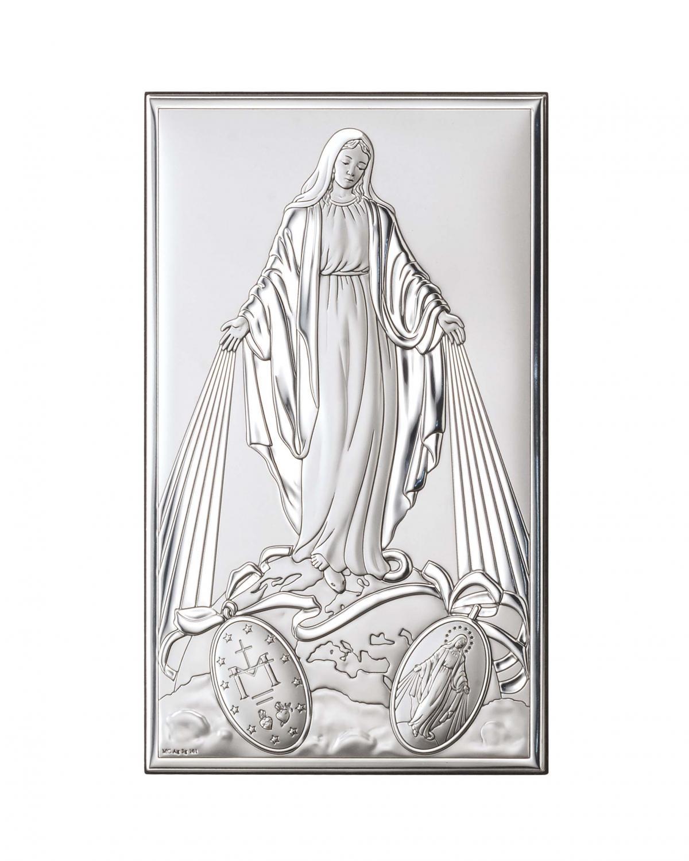 Ікона срібна Непорочне зачаття Діви Марії 12х20см 81322 4XL