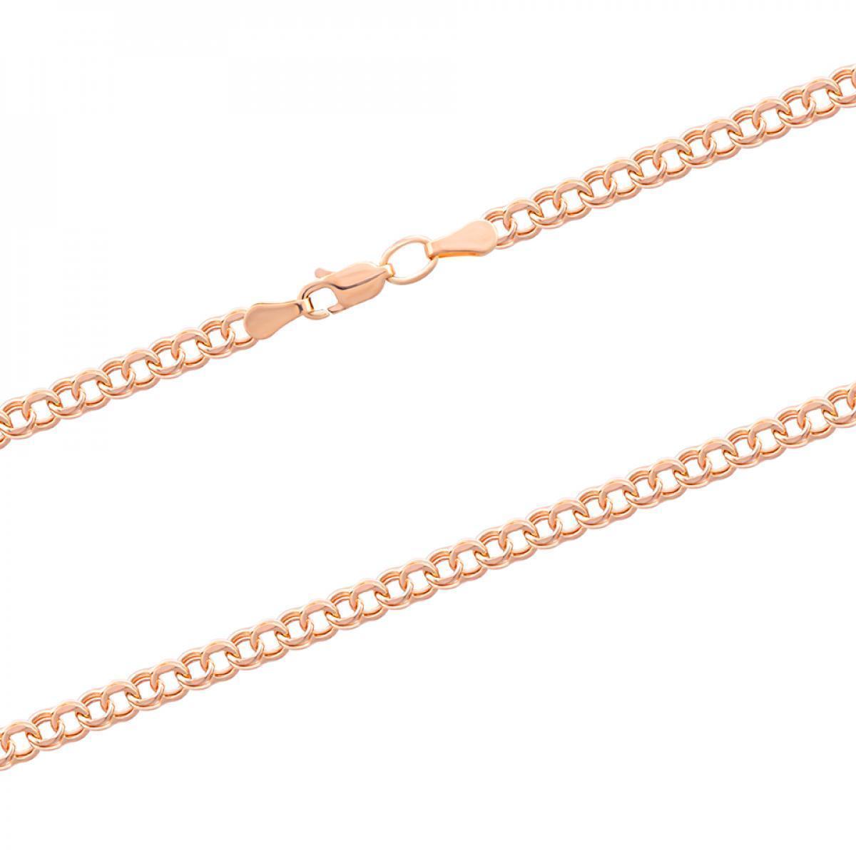 Ланцюжок з червоного золота плетіння гарібальді HLGAR-70/2X K (50)