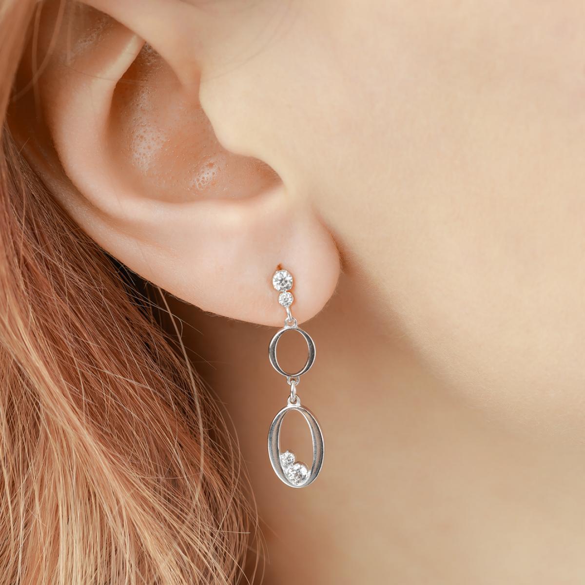 Сережки срібні з цирконієм ``Flamenco`` OR OVCZ 001