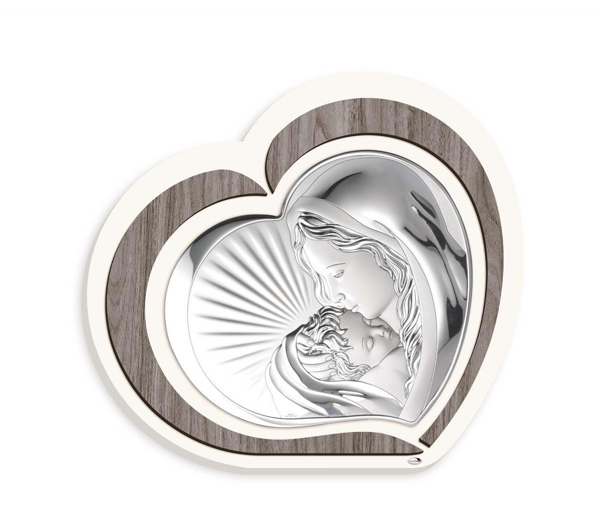 Ікона срібна Богородиця з дитям 47х52см L221 7