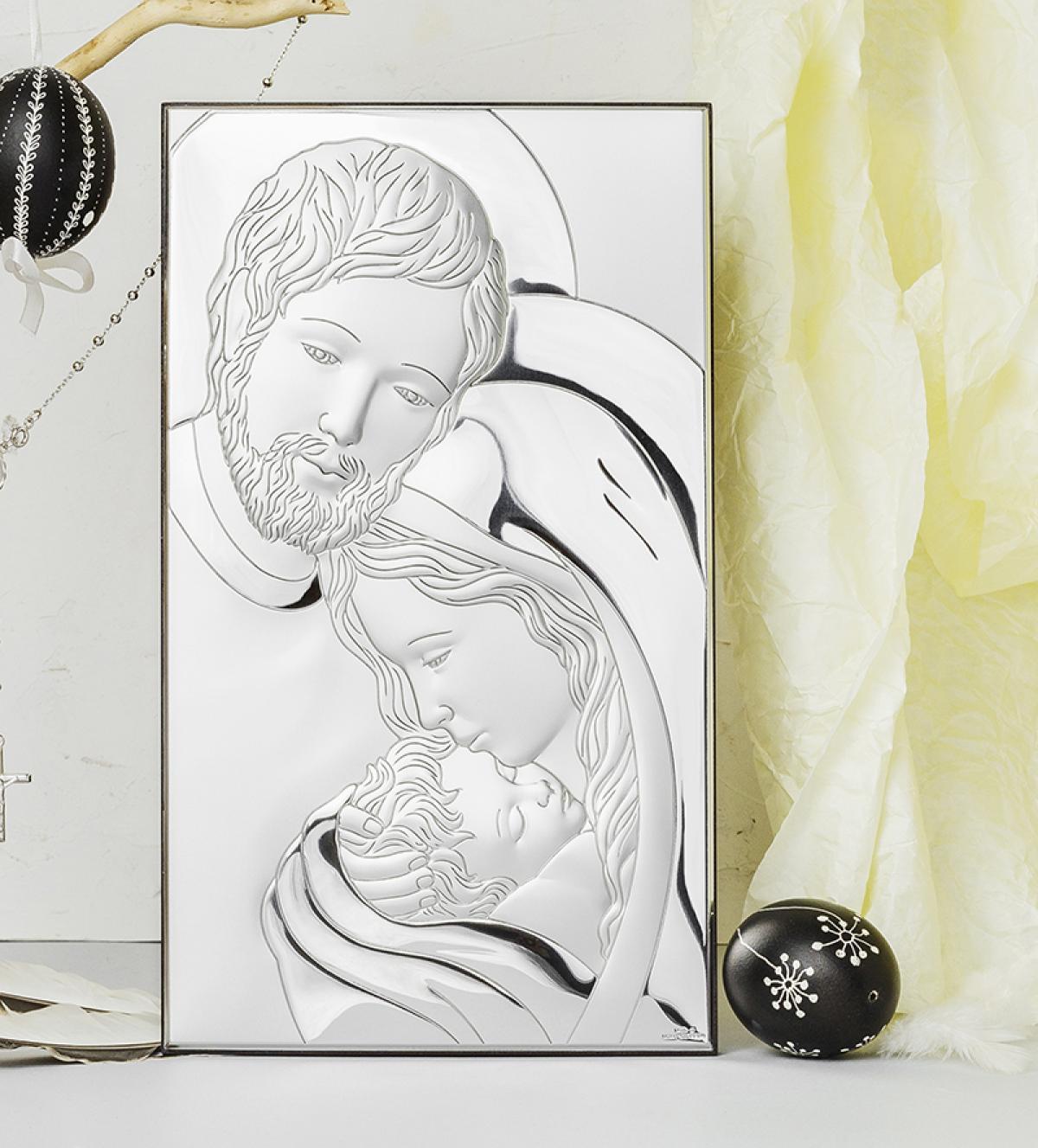 Ікона срібна ``Свята Сім`я`` (15х26см)  81320.5XL