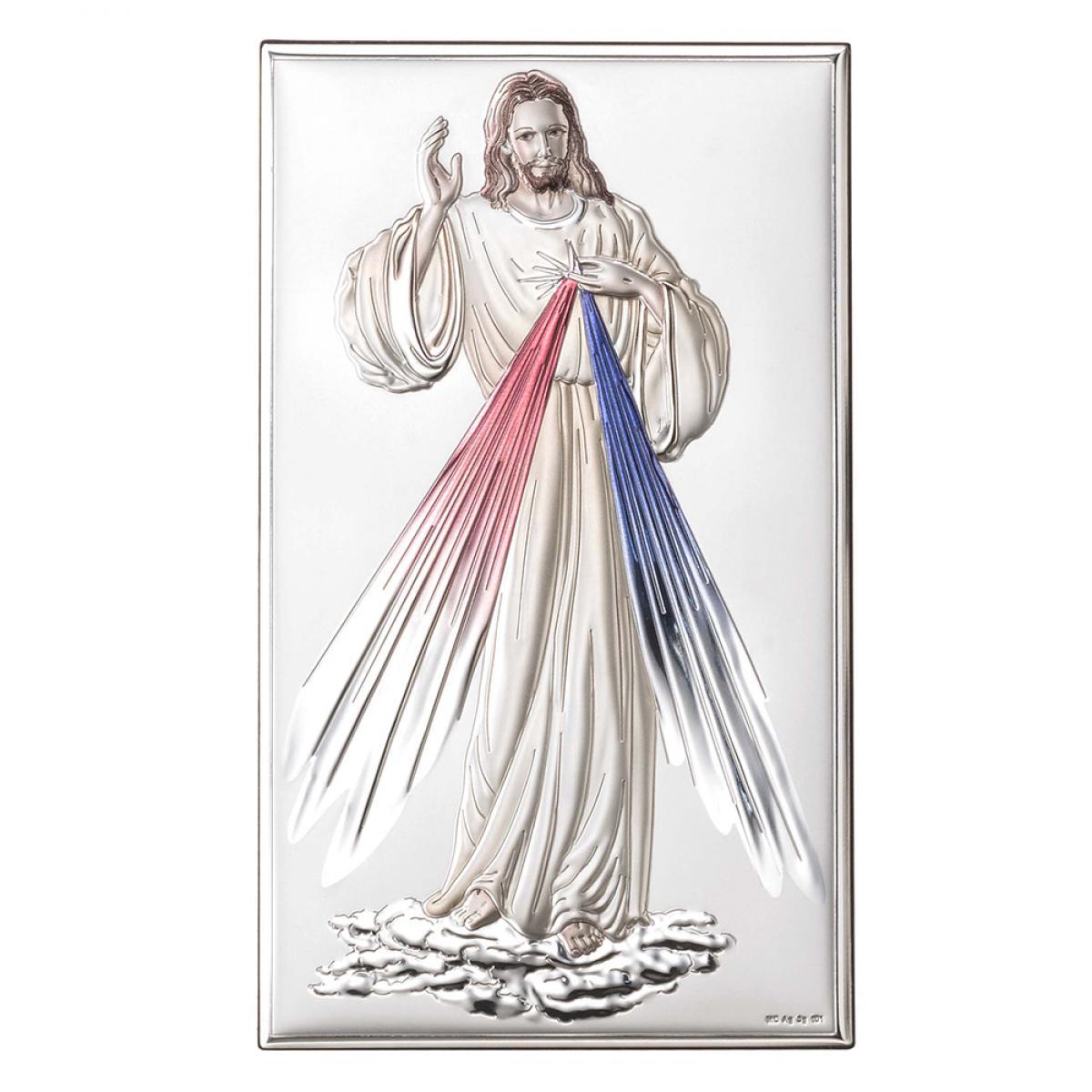 Ікона срібна Ісус Милосердний 12х20см 80001 3LCOL