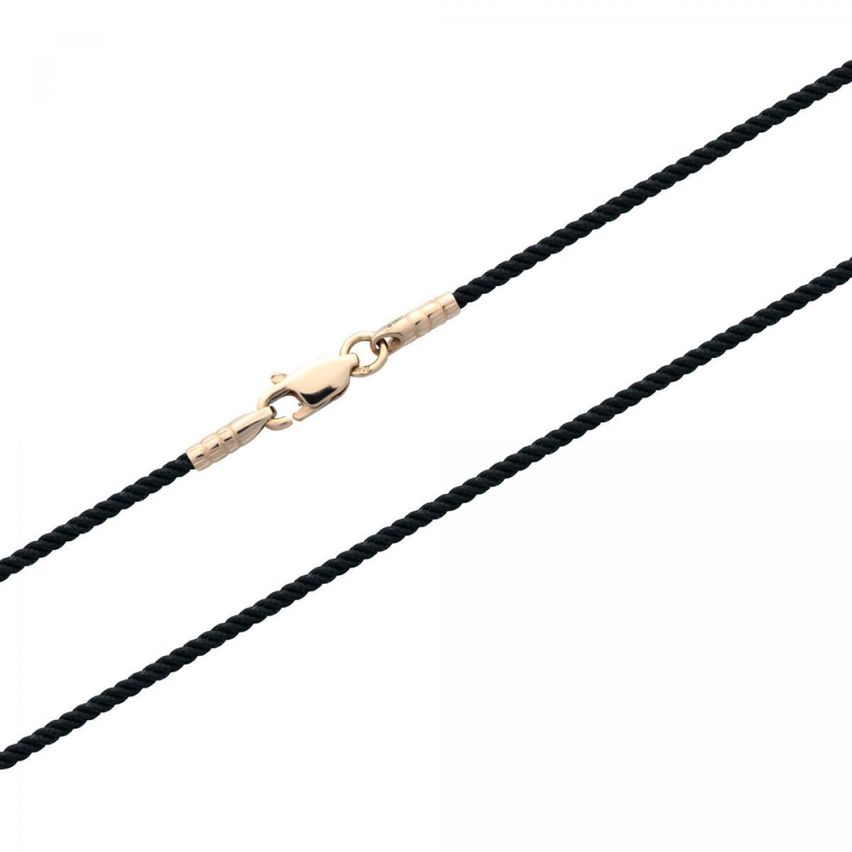 Ювелірний шнурок з золотою застібкою  (50)