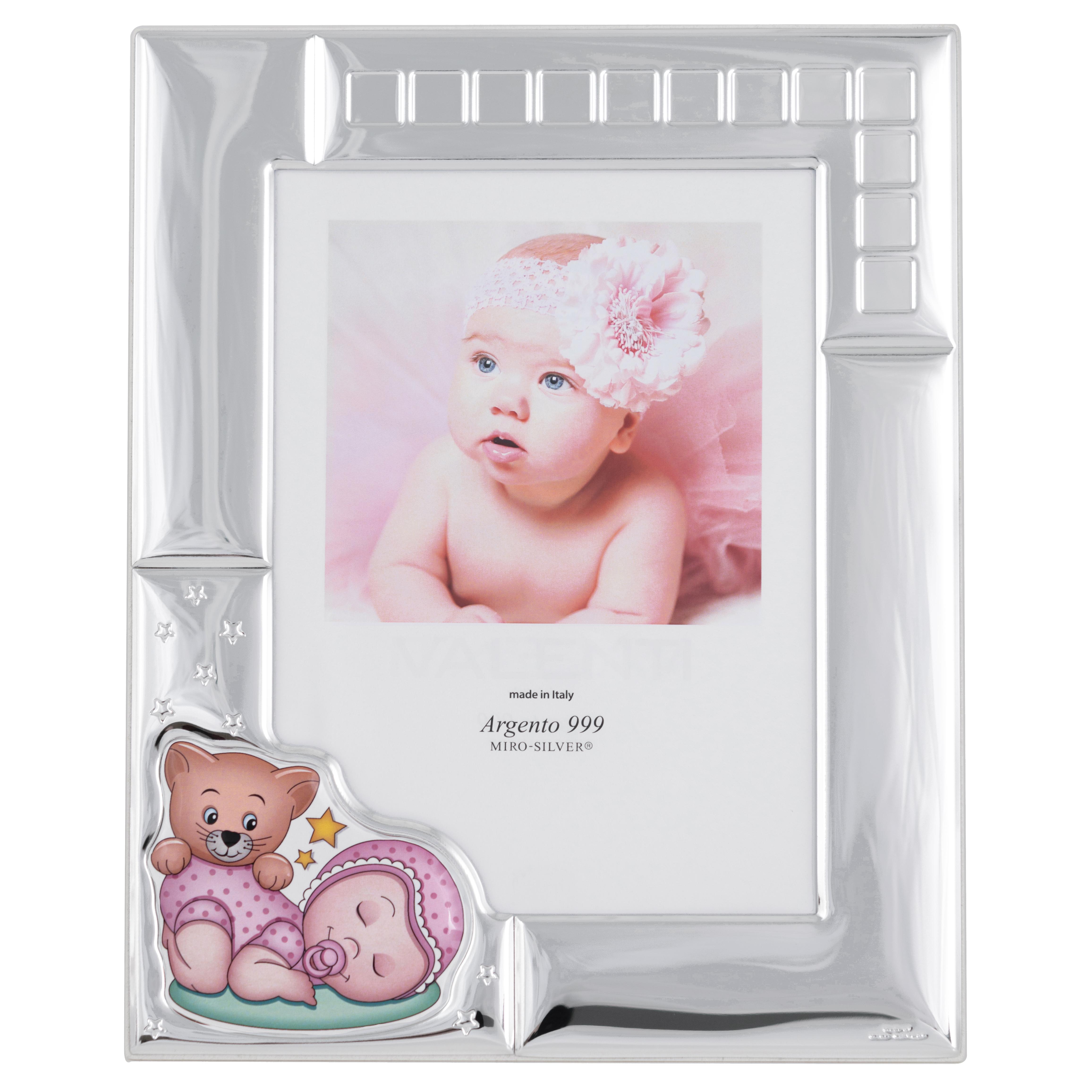Фоторамка срібна ``Sleeping baby`` рожева (13x18см)  73124 4LRA
