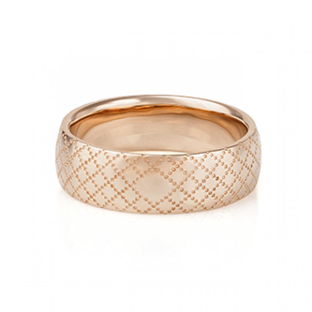 Перстень монобрендовий ``Icon`` з червоного золота (17,5)