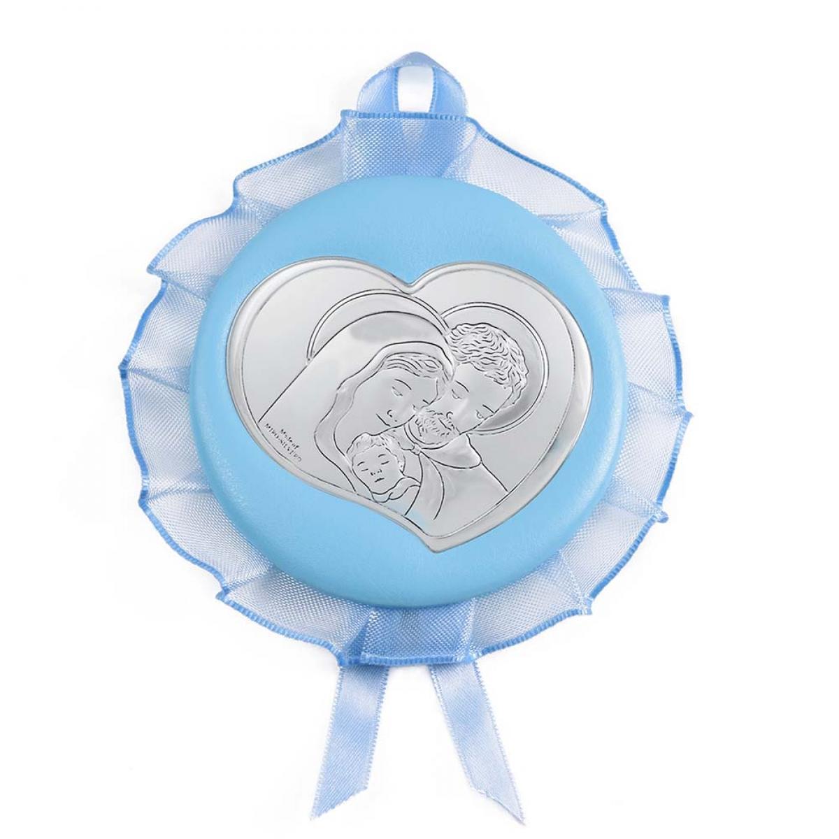 Ікона срібна дитяча ``Свята Родина`` Ø 9 см 10510 C