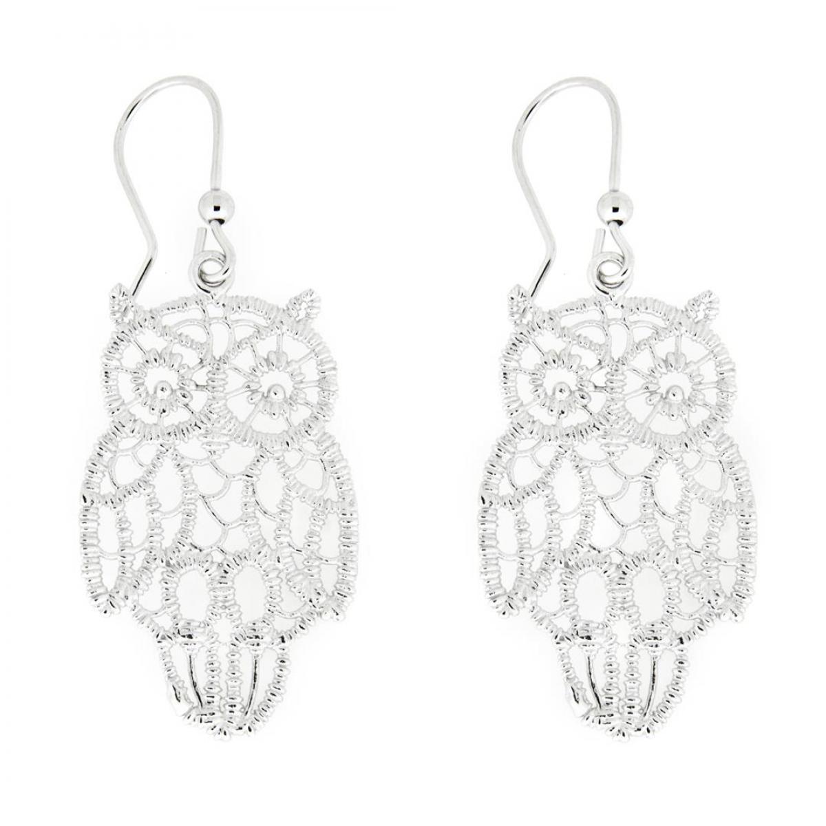 Сережки срібні ``Сова``