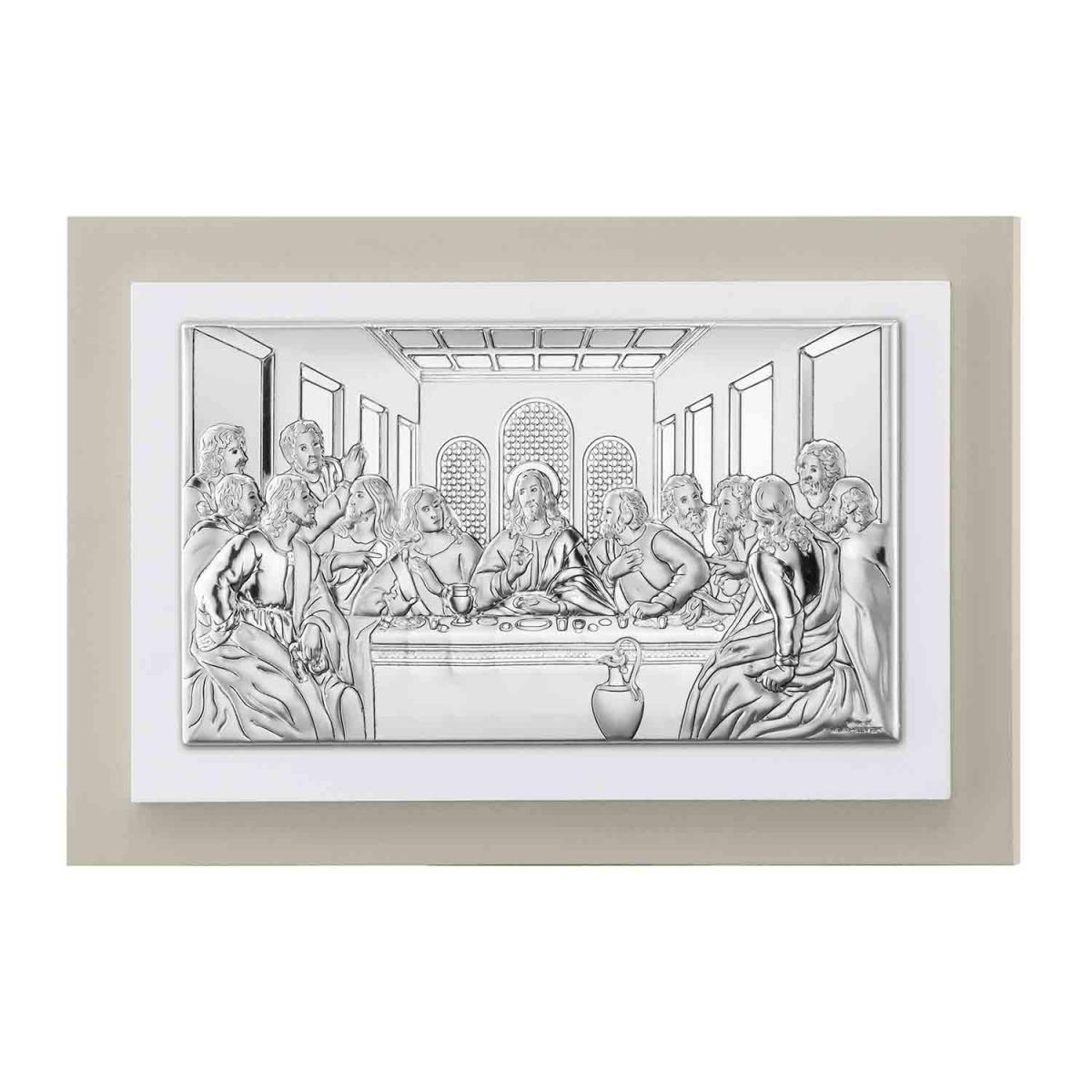 Ікона срібна ``Тайна вечеря`` 20х12см TP 81221 3LGW