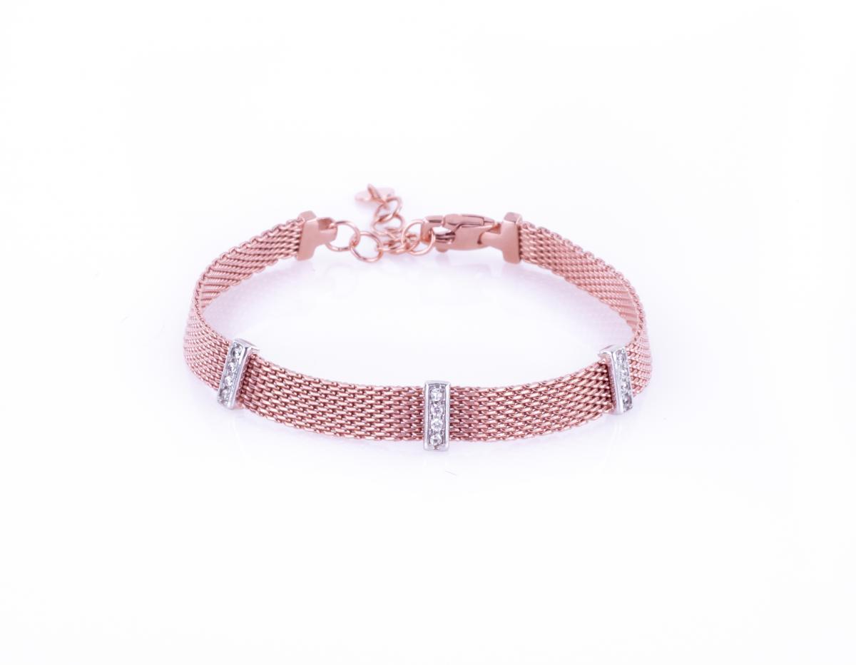 Браслет срібний з позолотою ``Milano Red Gold`` B1900151/10.45