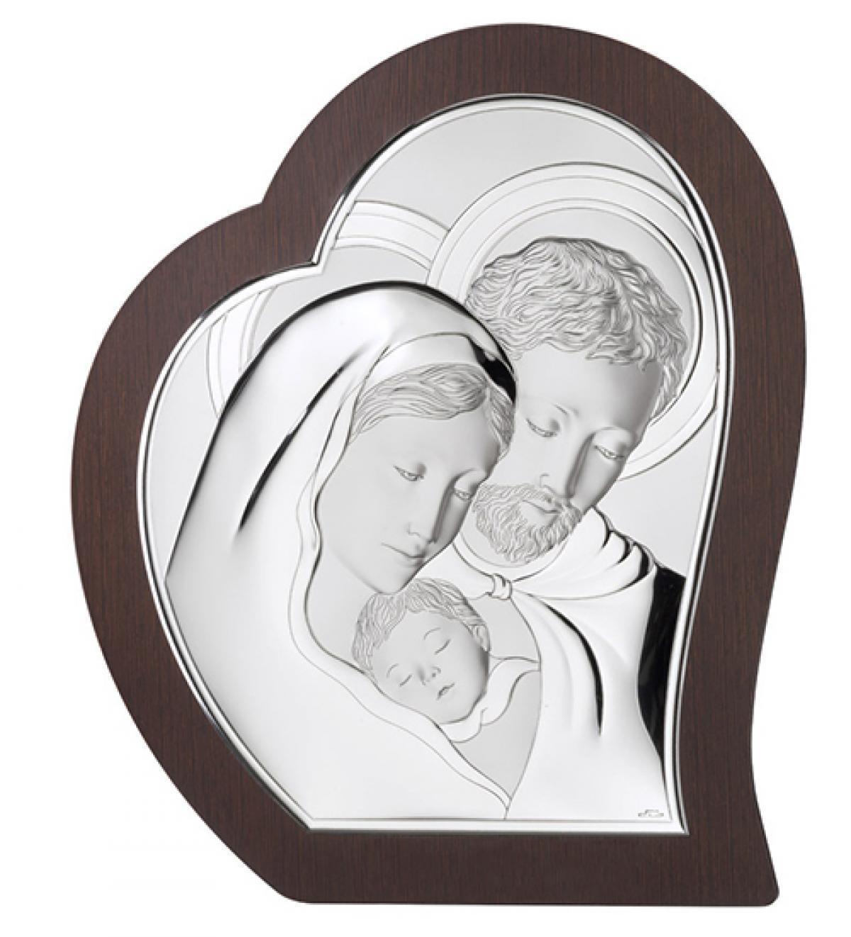 Ікона срібна Свята Родина 15х17см 81330 2L