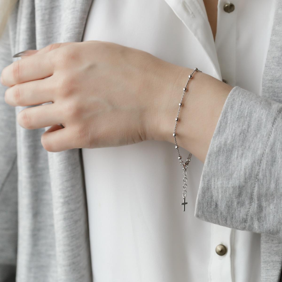 Срібний браслет-вервиця Denarius (розмір 20.5)