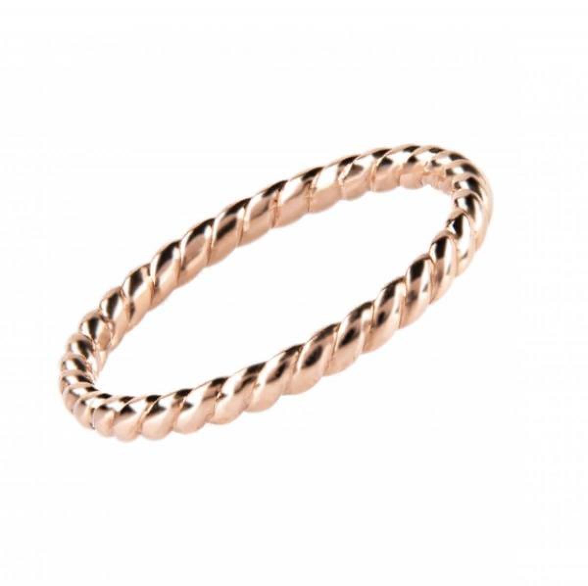 Перстень монобрендовий ``Twist Infinity`` з червоного золота 100-0159 (17,0)