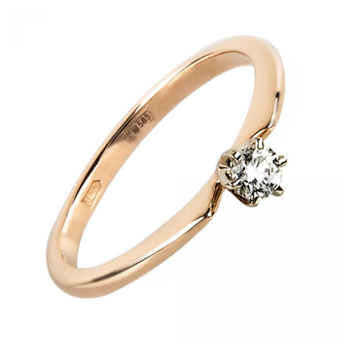 Золота каблучка з діамантом ``Jane``(15,5-1,54)