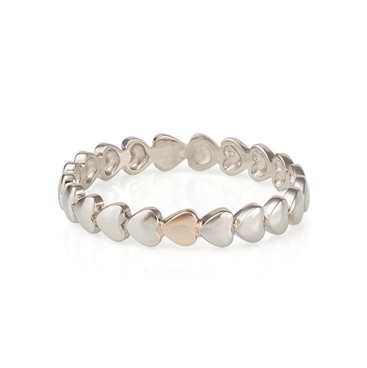 Перстень монобрендовий ``Heart`` з комбінованого золота  (16,5)