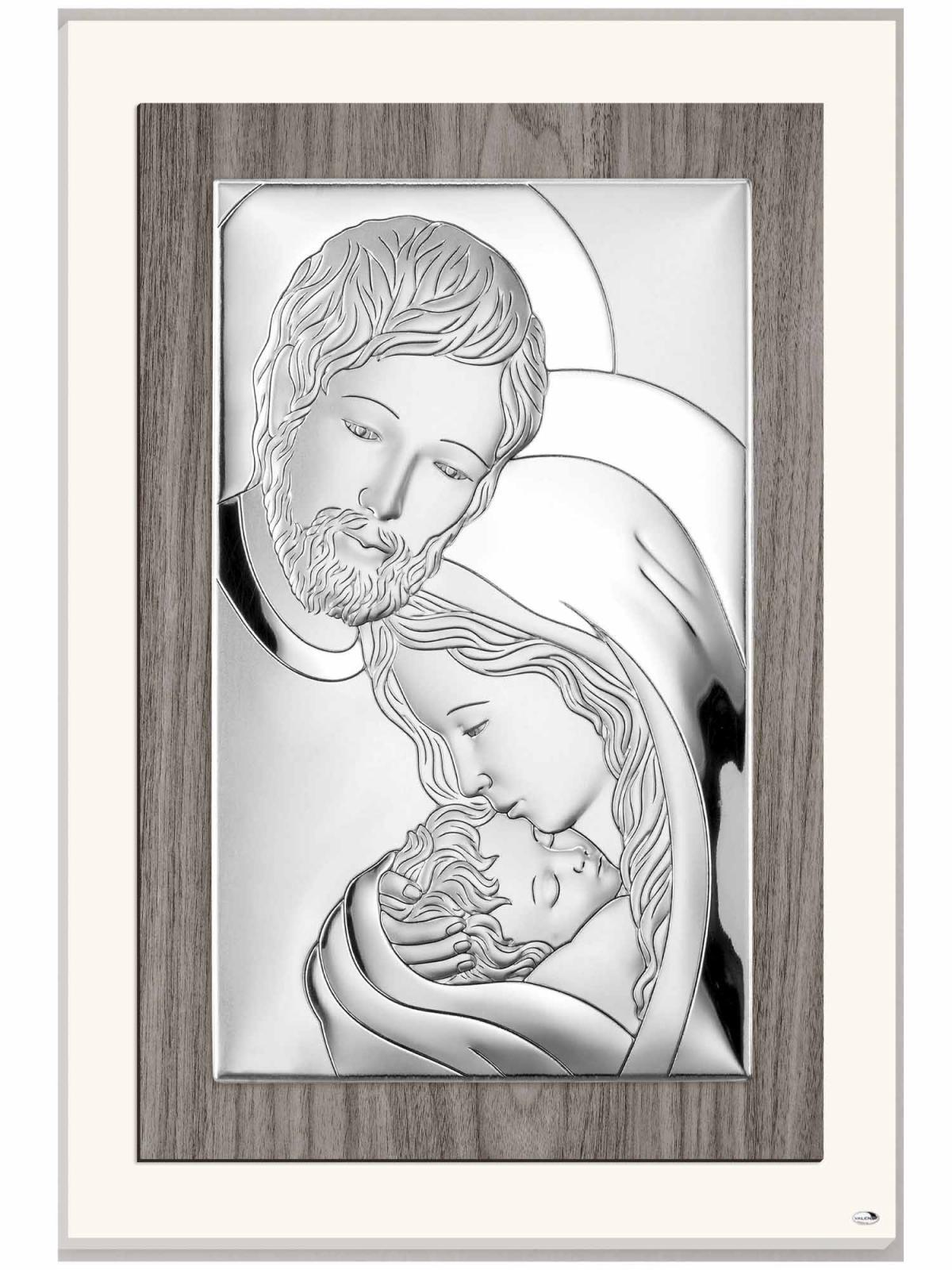 Ікона срібна Свята Родина 17х25см L240.4
