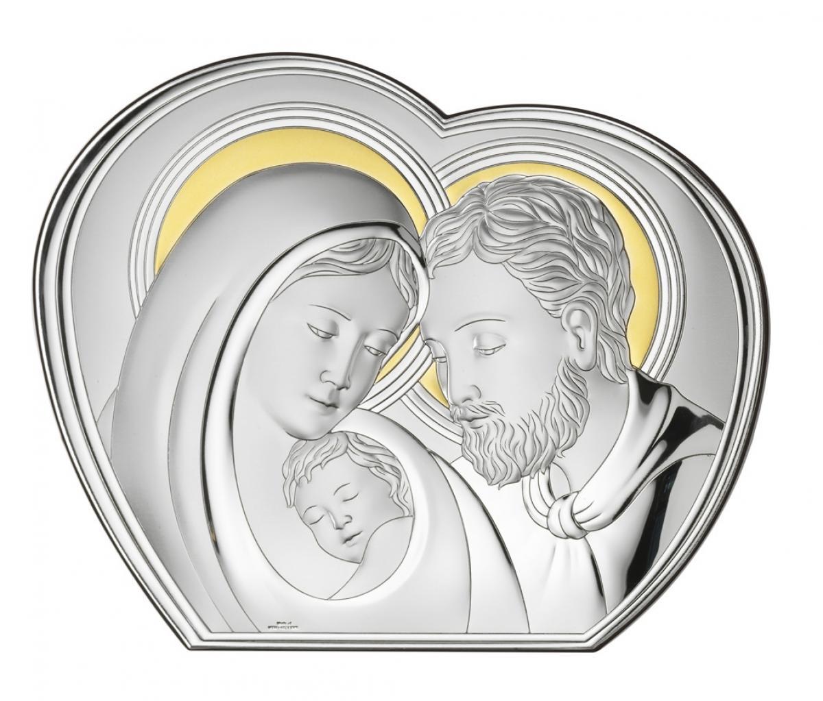 Ікона срібна ``Свята Родина`` 20х16см  B2685