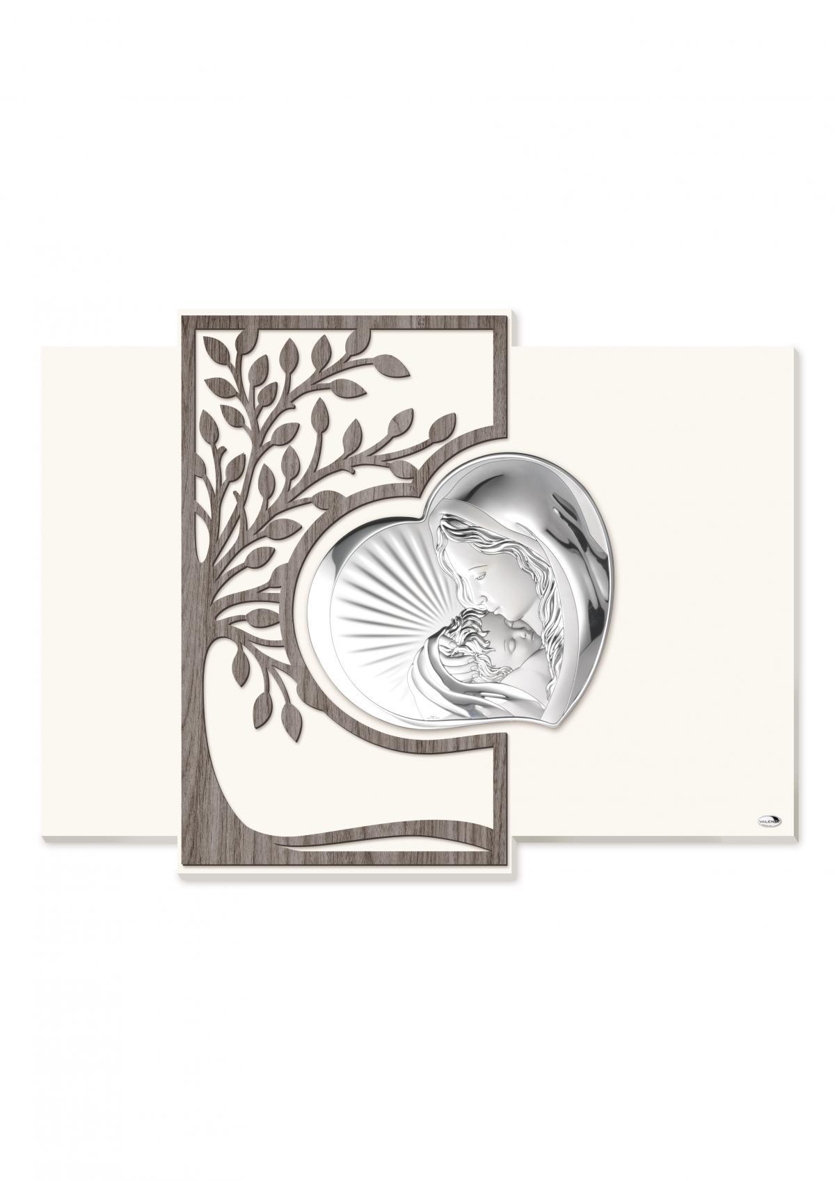 Ікона срібна ``Матір Божа з Немовлям`` 60х45см  L181