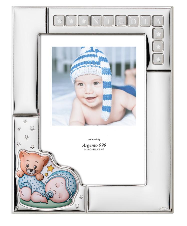 Срібна фоторамка ``Sleeping baby``13x18см  73124 4LC