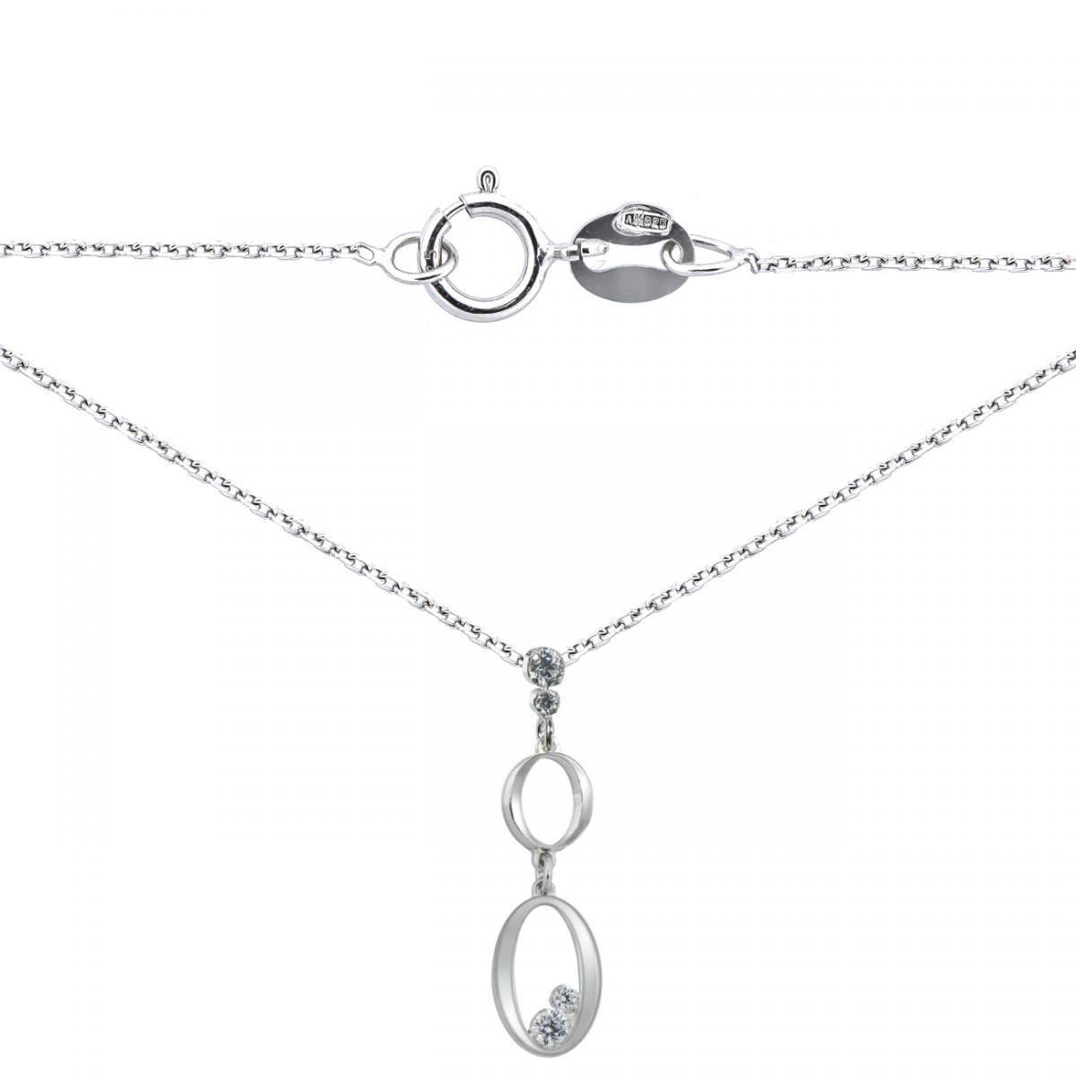 Кольє срібне з цирконієм ``Flamenco`` R B OVCZ 030