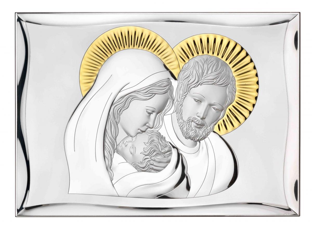 Ікона срібна ``Святе Сімейство`` (28х40см) 81301.7LORO