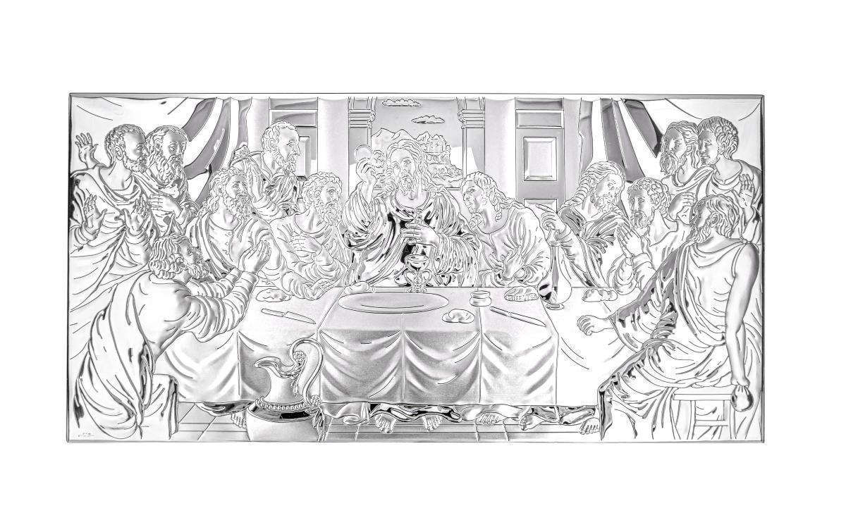 Ікона срібна Тайна Вечеря 50х25см 81323 7L