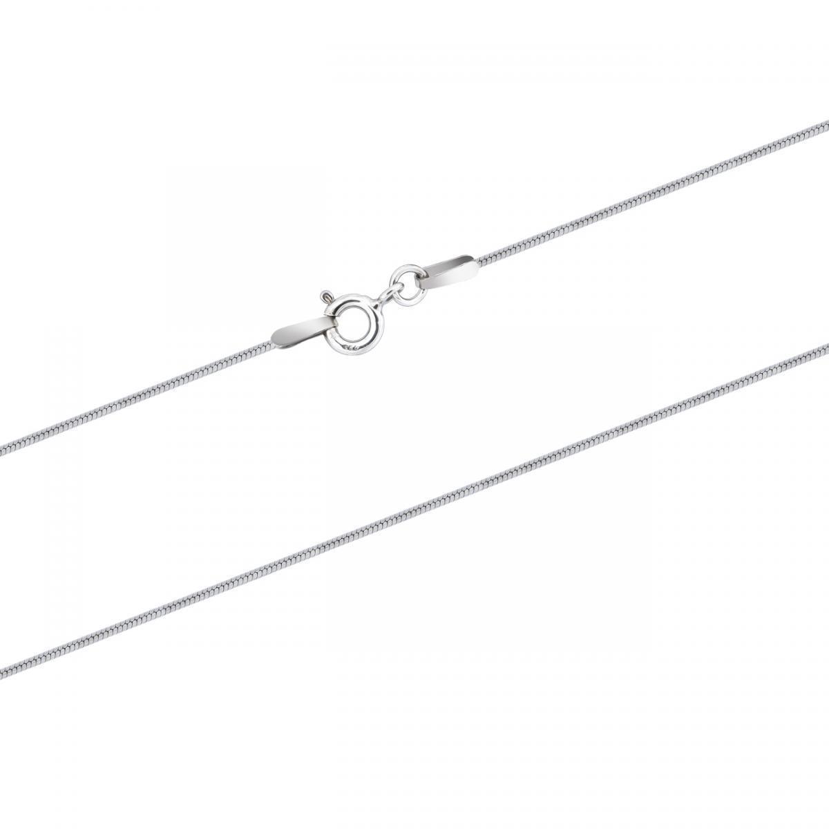 Срібний ланцюжок-снейк з алмазною огранкою  (40)