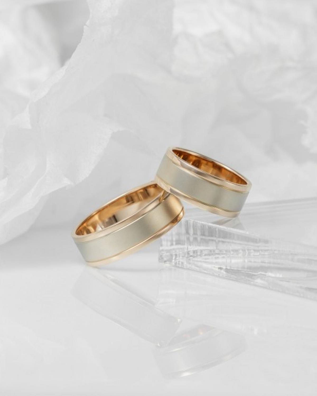Обручка ``Берег океану`` з комбінованого золота  (20)