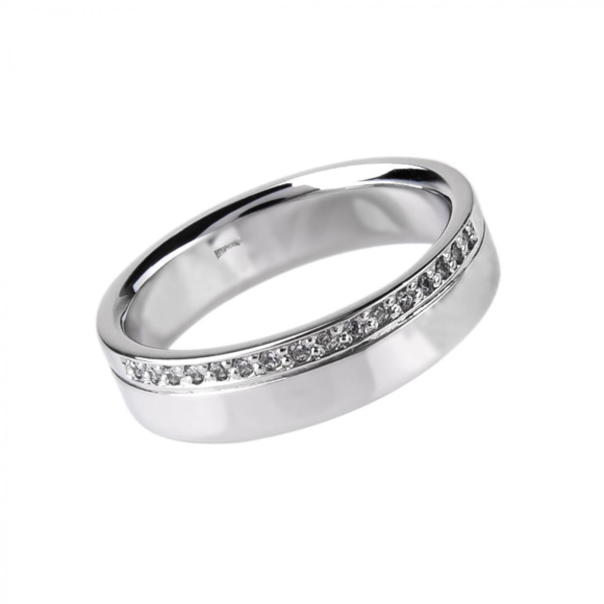 Обручка з білого золота ``Місячна дорога`` (16-3,86)
