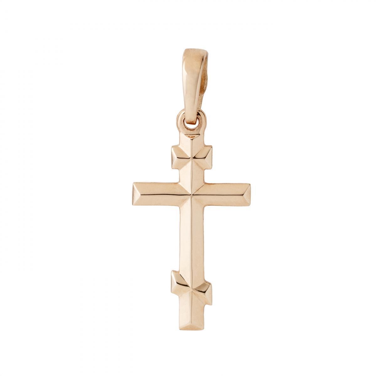 Хрестик класичний з червоного золота 105-0897