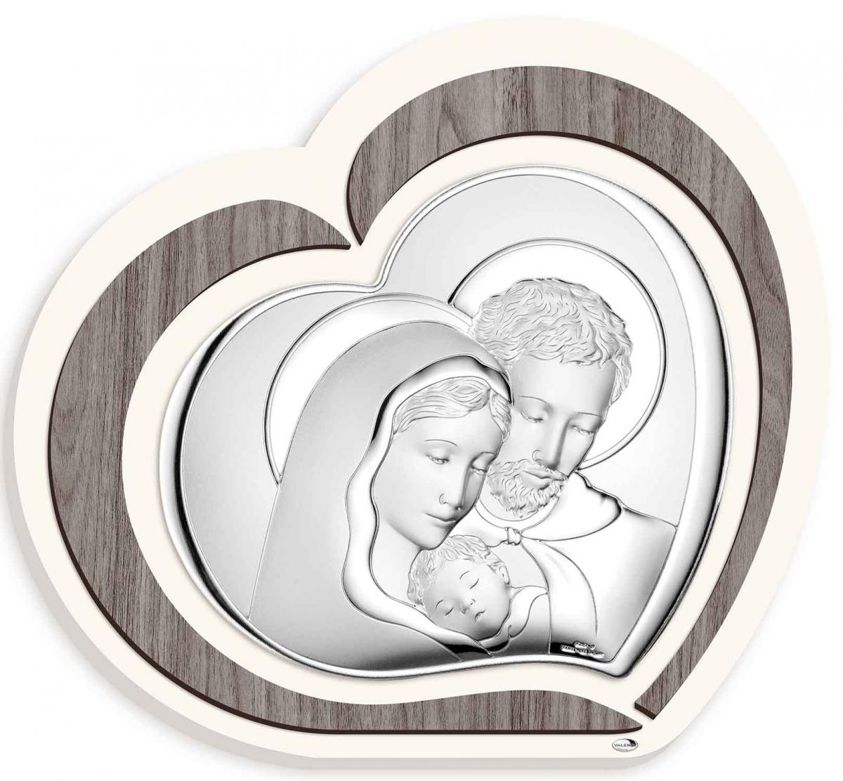Ікона срібна Свята Родина 15х13см L220 2