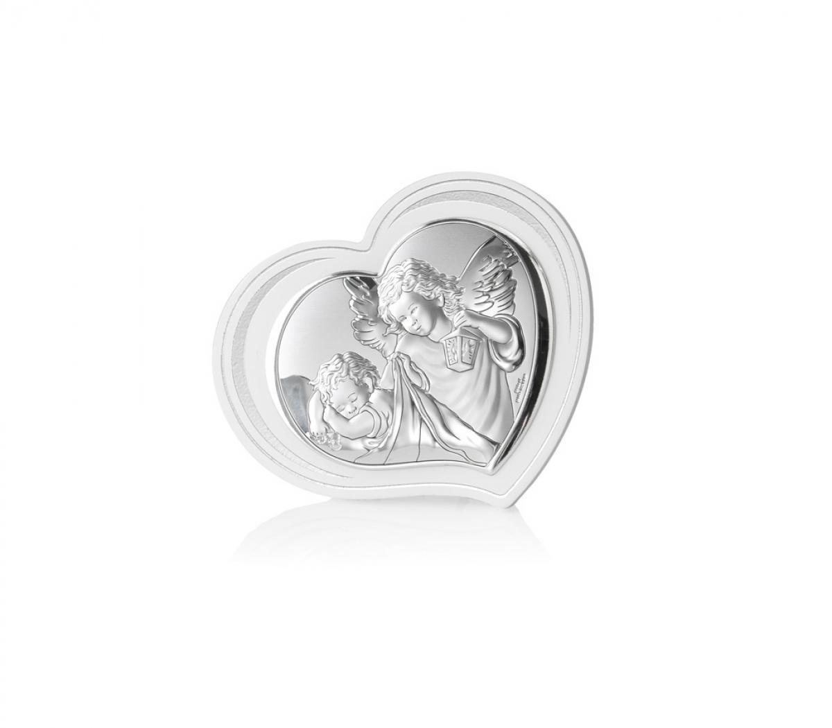 Ікона срібна Ангел-охоронець 11х9см 81298.2L