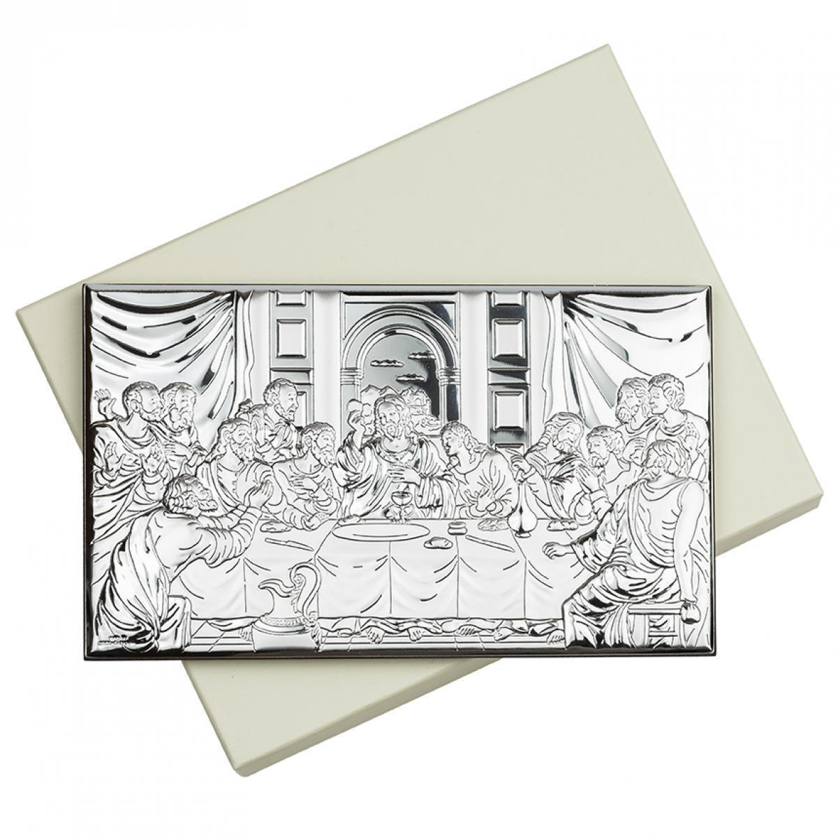 Ікона срібна Тайна Вечеря 11х7см 81323 3L