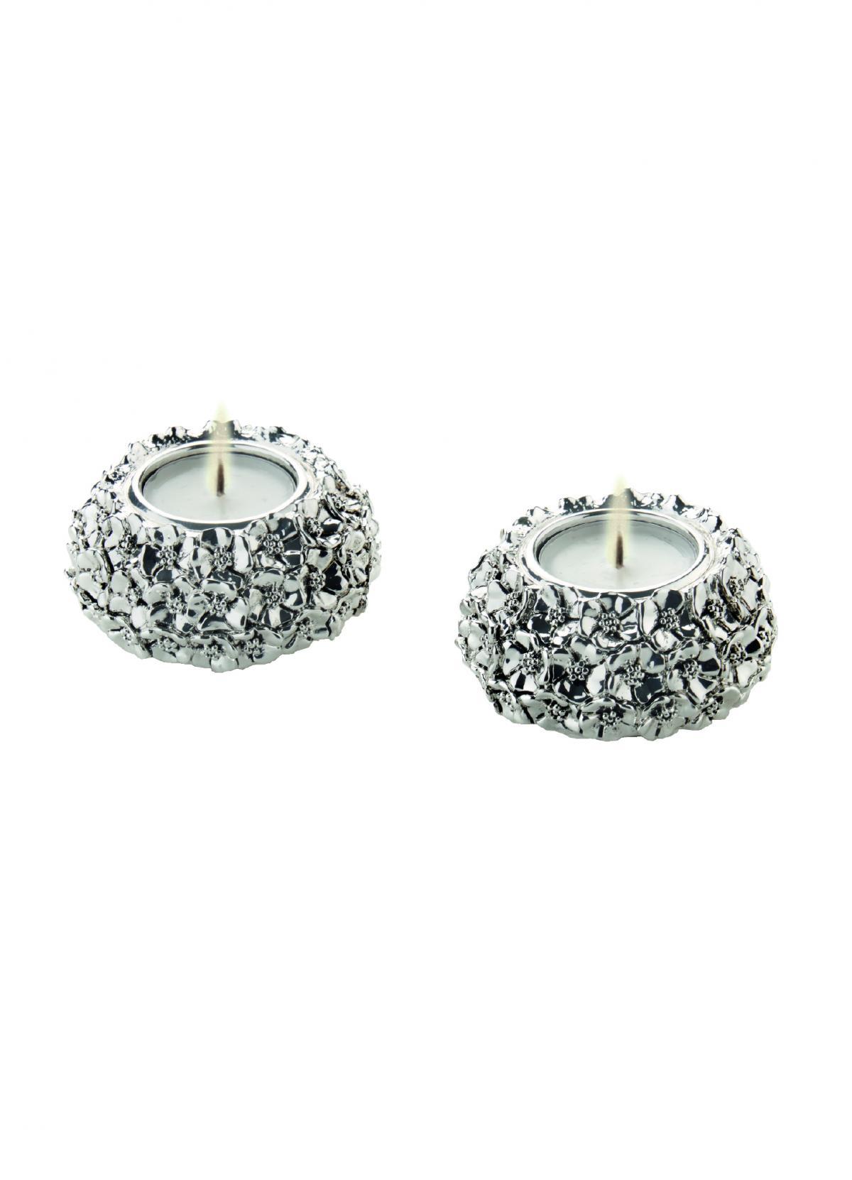 Набір срібних свічників  ``Квіти`` R382